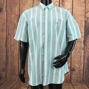 Ralph Lauren Blake men's XL green striped shirt